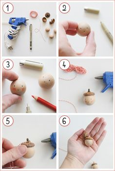 D.I.Y. Acorn-topped Ornaments - Home - Creature Comforts - daily inspiration, style, diy projects + freebies