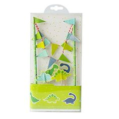 Cute Animals Zoo Dinosaur Cake Bunting Toppers Flag Banne...