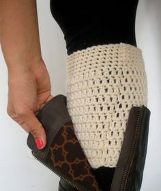 PDF PATTERN Crochet Boot Cuffs DIY Leg Warmer Boot by LanadeAna - I think I will have to learn to crochet for this for sure! Or @Christine Ballisty Ballisty Hudson interested if I buy materials?? :)