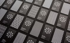 Logo, patterns and business cards for Function Engineering designed by Sagmeister & Walsh