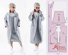 Fashion Sewing, Fashion Fabric, Curvy Fashion, Diy Fashion, Ideias Fashion, Jacket Pattern, Top Pattern, Sewing Clothes, Diy Clothes