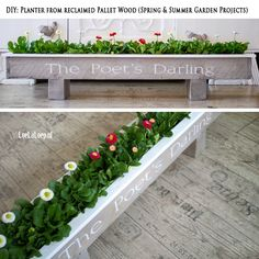 DIY: Planter from reclaimed Pallet Wood (Spring & Summer Garden Projects)
