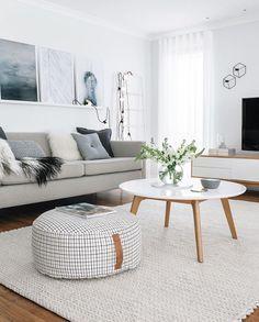 Conjunto mesa centro e mesa de tv - branco e madeira