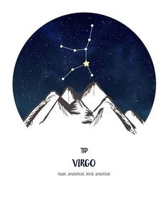 My ascendant is in Virgo ~ loyal, analytical, kind, practical Virgo Star, Capricorn And Virgo, Virgo Horoscope, Moon Astrology, Astrology Signs, Virgo Symbol, Earth Tattoo, Zodiac Sign Tattoos, Zodiac Star Signs