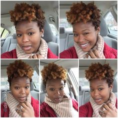 """Love it by @daynakelley """"Sooooo, about this hair!! I wanted to bring in the New Year with a bang  #blackhairstyles #transitioning natural hair"""