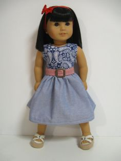 American Girl Doll ClothesSummer Picnic by 123MULBERRYSTREET, $25.00