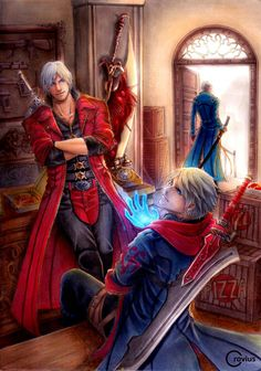 -Sons of Sparda- DMC4 SE fanart #art #artwork #doodle #anime #painting #drawing #color #crovius #dante #nero #vergil #fanart #game #devilmaycry #dmc
