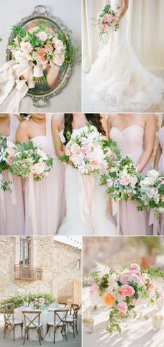 Blush and romantic winery wedding with gorgeous floral details via…