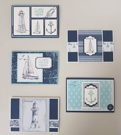 Masculine Birthday Cards, Birthday Cards For Men, Masculine Cards, Stampin Up Karten, Karten Diy, Paper Cards, Diy Cards, Nautical Cards, Beach Cards