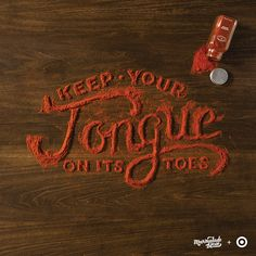Food-based typography -- Danielle Evans is a typographer that crafts some of the most uplifting and inspiring works of type. Here, she puts her skills to use for an advertising campaign for Target.