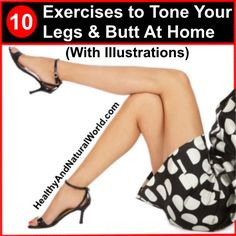 DIY Face Masks : 10 Exercises to Tone Your Legs and Butt At Home (With Illustrations) Varicose Vein Remedy, Varicose Veins, Fitness Tips, Fitness Motivation, Health Fitness, Diy Masque, Butt Workout, Easy Workouts, Get In Shape