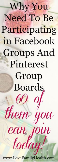 Learn how to utilize Facebook groups and Pinterest Group Boards to grow your blog! Plus a list of 60 Facebook groups and Pinterest group boards you can join today! ALL accepting contributors!