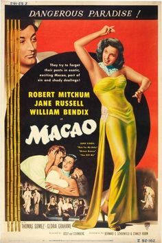 Macao ~ Movie Poster, 1952