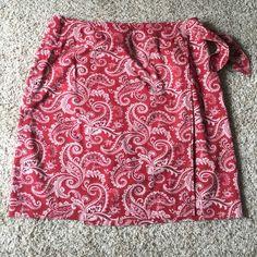 Red bandana wrap skirt Red bandana wrap skirt 20 in long size 12 Skirts