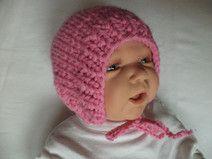 Babymütze gestrickt Wolle 35-38cm Mütze Merino