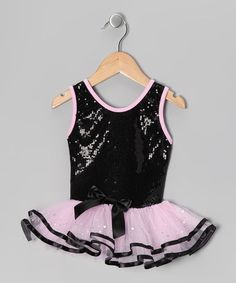 Take a look at this Black & Pink Sequin Skirted Leotard - Toddler & Girls by Popatu by Posh on #zulily today!