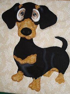 dachshund quilt: