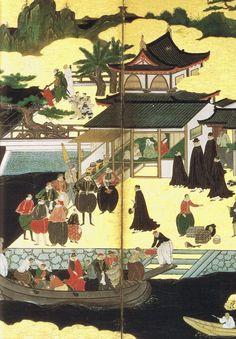 Nanbanjin Byobu(Foreigner)/Suntory Art Museum  Folding Screen  Momoyama period