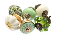 MG-229-A 6 x Mixed Shabby Chic Ceramic Cupboard Knobs Cabinet Drawer Pulls