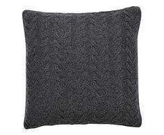 Cuscino in lana Merit grigio scuro - 50x50 cm