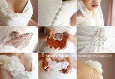 Something like this.. collage of something old, something new, something borrowed, and something blue