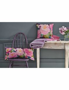 Bluebellgray- Cait & Victoria cushions from the Winter Peony Collection