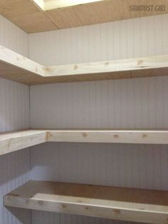 How To Build Pantry Shelves Pantry Small spaces and Ceiling