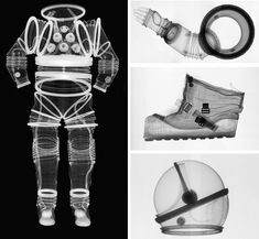 x-ray images of spacesuits