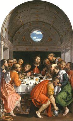 Girolamo Romani (Il Romanino), The Last Supper, 1535