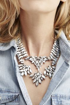 Feather Statement Necklace by @SoleSociety, available with #free2dayshipping for @shoprunner members