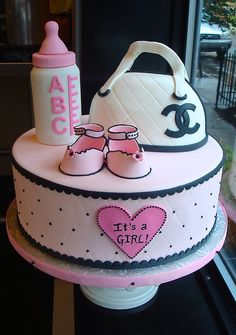 "Chanel Baby Shower Cake | Because nothing says ""Welcome Baby… 