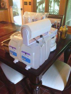 Paper towel holder mounted to water keg...handwashing station.