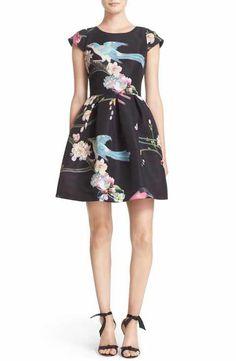 Ted Baker London Zaldana Print Fit & Flare Dress