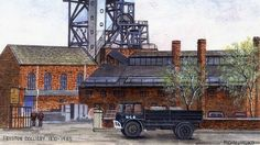 Fryston Colliery in West Yorkshire opened in 1870 and closed in 1985 - Michael Milner