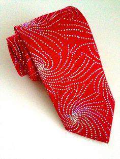 Swirl Red Glitter Tie #VanBuck #Tie #NeckTie #Ties #sparkle #Glitter #Red #Novelty #Colourful #Firework #Accessories #MensAccessories   http://www.fabties.com/ties/novelty-ties/swirl-red-glitter-tie.html