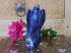 Extravagant Royal blau echt Lapis lazuli Adler falke tier