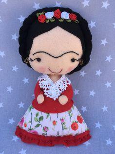 Frida Khalo, niña, personalizado, hecho a mano, Frida, regalo.