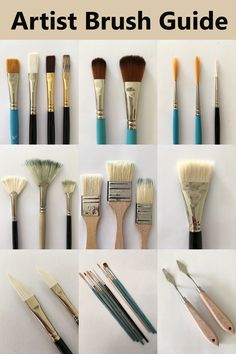 Oil Painting Brush Guide For Artists What Are The Types And Brands For Paintbrushes For Oil Paints Painting Tutorial For Beginners Oil Basics Supply And Equipment Oil Painting Trees, Horse Oil Painting, Oil Painting Lessons, Simple Oil Painting, Oil Painting Background, Realistic Oil Painting, Oil Painting For Beginners, Modern Oil Painting, Oil Painting Techniques