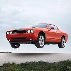 Flying High! Dodge challenger SRT8!