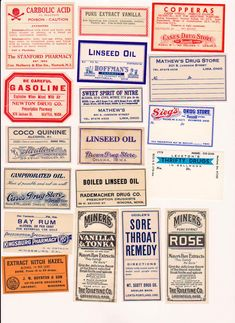 Vintage Apothecary labels pharmacy collage by TheDigitalArtifact, $3.50