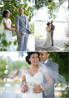 canadian wedding first look