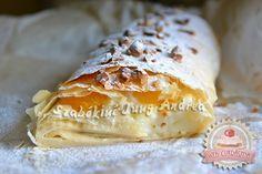 Barackos-vaníliás rétes Hungarian Recipes, Nutella, Main Dishes, Good Food, Turkey, Vegetarian, Sweets, Cheese, Fish