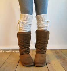 Alpine Thigh High Slouch Sock  Cream thick cable by GraceandLaceCo, $39.00
