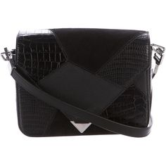 Pre-owned Alexander Wang Embossed Prisma Envelope Bag (€210) ❤ liked on Polyvore featuring bags, handbags, black, zip purse, preowned handbags, embossed handbags, genuine leather handbags and zipper handbags