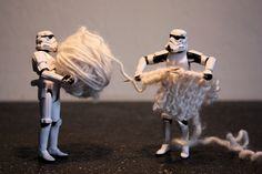 knitting storm troopers #starwars
