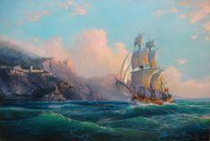 Картины (живопись) : В открытом море