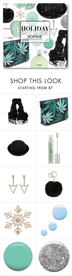 """""""Rockin' around the Christmas tree"""" by sunshineb ❤ liked on Polyvore featuring Fraiche, Eos, Urban Decay, John Lewis, Topshop, Jin Soon, Burberry, giftguide, Christmas and romwe"""