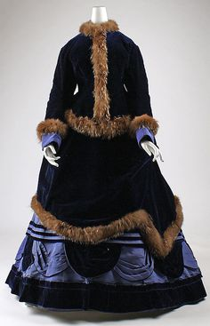 a. 1874 Culture: French Medium: silk, fur Dimensions: (a) Length at CB: 21 1/2 in. (54.6 cm) (b) Length at CB: 55 1/2 in. (141 cm) (c) Length at CB: 24 in. (61 cm) (d) Length at CF: 28 in. (71.1 cm) Credit Line: Gift of Mrs. J. Chester Chamberlain, 1952 Accession Number: C.I.52.13.3a–d