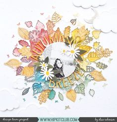 """659 Likes, 11 Comments - Hip Kit Club Scrapbooking Kits (@hipkitclub) on Instagram: """"Fall is in the air! @heyelsie_ created this gorgeous mixed media layout using this awesome HKC…"""""""