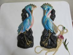 Miller Studio Heron Wall Plaques Set of 2 by LuRuUniques on Etsy
